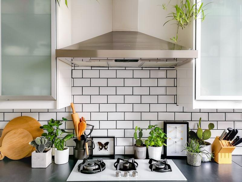 custom black and white kitchen islands