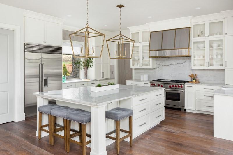 custom luxury kitchen islands chicago